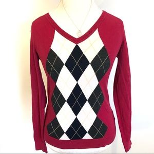 Tommy Hilfiger Small Pima Cotton Argyle Sweater